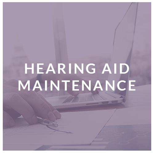hearing aid maintenance